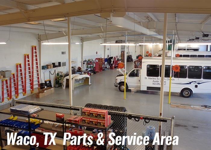 Waco, Texas Parts and Service Area
