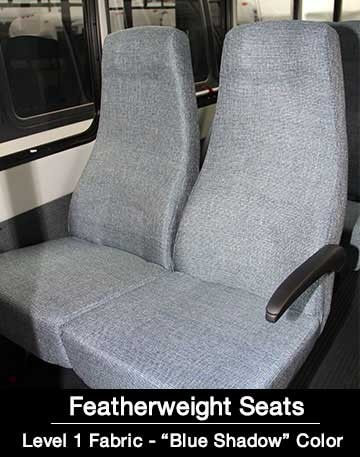 Level 1 Featherweight Blue Shadow Shuttle Bus Seat