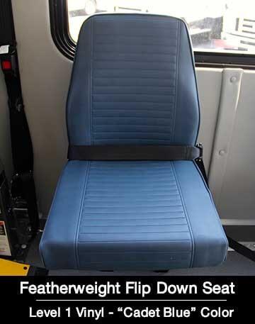 Level 1 Flip Down Cadet Blue Shuttle Bus Seat