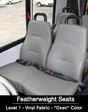 Level 1 Vinyl Oxen Feather Bus Seat