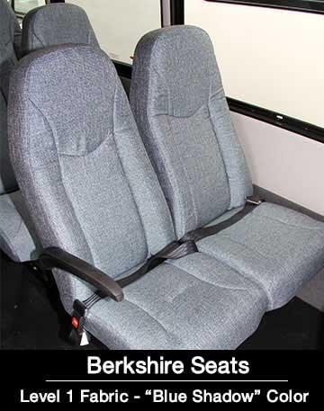 Level 1 blue shadow Berkshire shuttle Bus Seat
