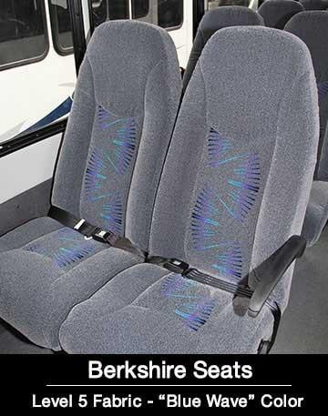 Level 5 Blue Wave Berkshire Shuttle Bus Seat