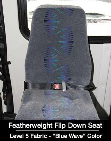 Level 5 Mid Back Flip Down Shuttle Bus Seat