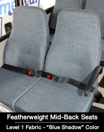 level 1 featherweight mid back blue shadow shuttle Bus Seat