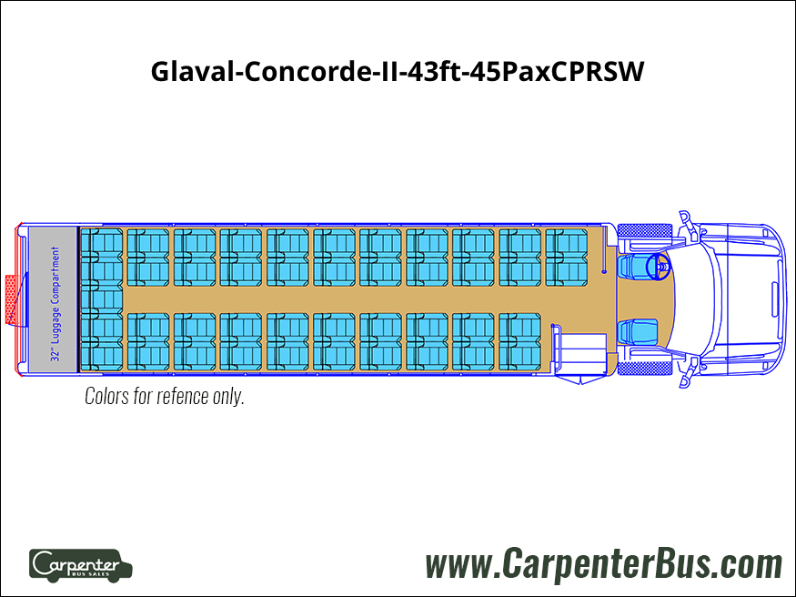 Glaval Concorde II 43ft 45PaxCPRSW