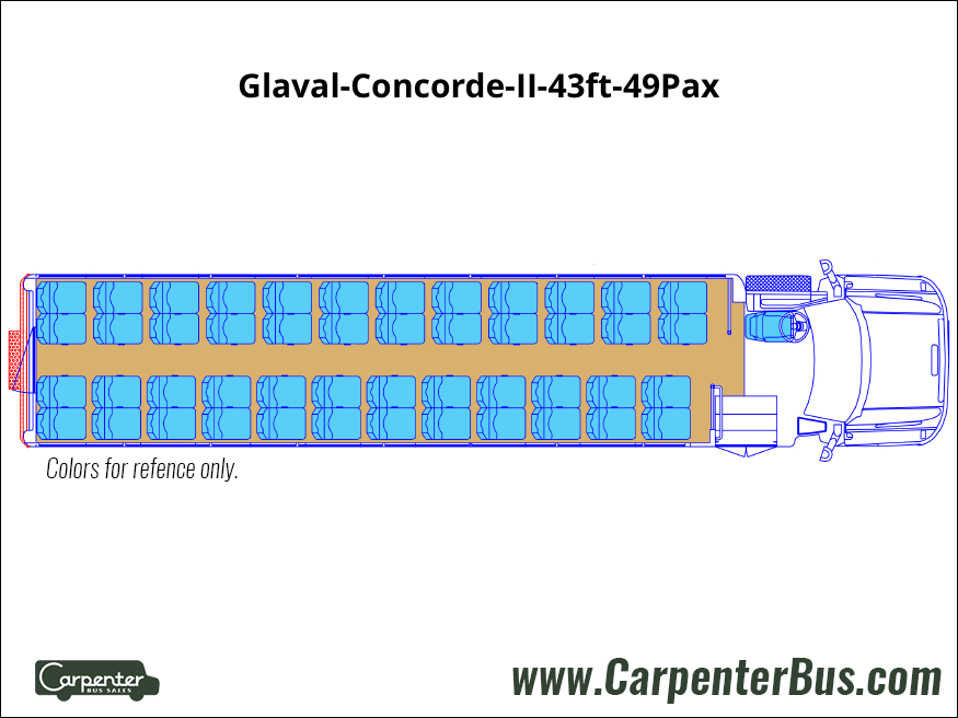 Glaval Concorde II 43ft 49Pax