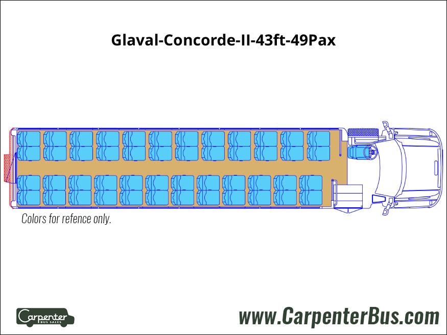 Glaval Concorde II 43ft 49Pax