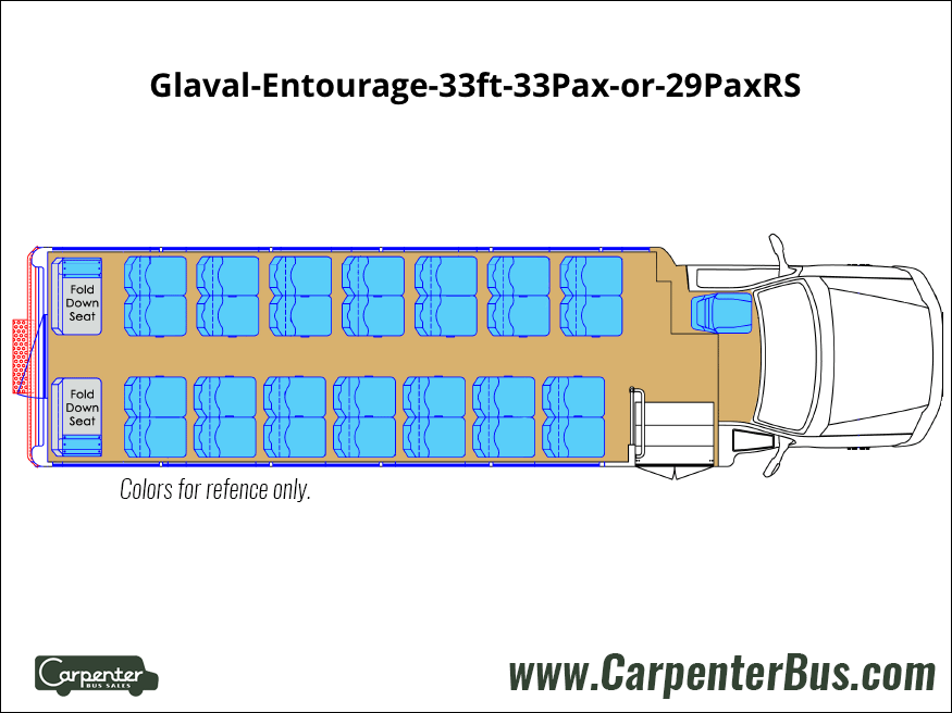Glaval Entourage 33ft 33Pax or 29PaxRS