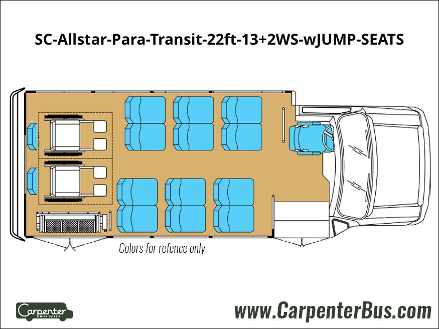 SC Allstar Para Transit 22ft 13 2WS wJUMP SEATS